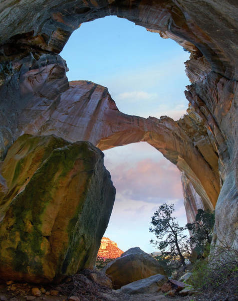 Photograph - La Ventana Arch Sunrise, El Malpais Nm by