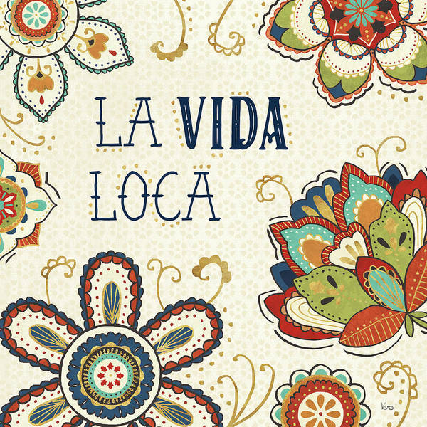 La Vida Loca II Art Print by Veronique Charron