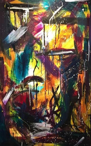 Art Print featuring the painting La Vie Boheme Part Three by Rebecca Davidson