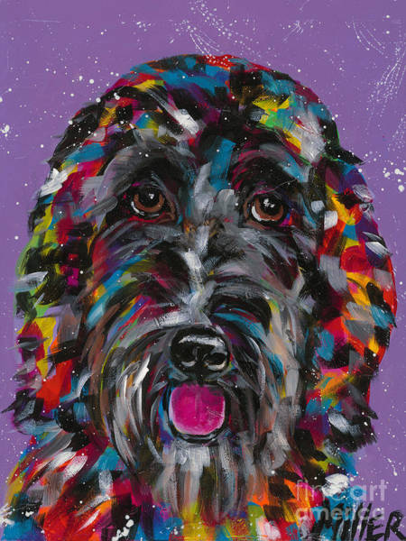 Wall Art - Painting - Labradoodle by Tracy Miller