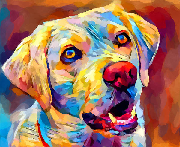 Wall Art - Painting - Labrador 6 by Chris Butler
