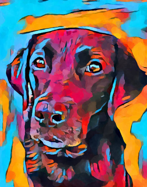 Wall Art - Painting - Labrador Retriever 8 by Chris Butler