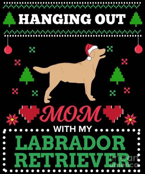 Ugly Digital Art - Labrador Retriever Ugly Christmas Sweater Xmas by TeeQueen2603