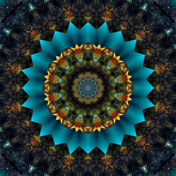 Digital Art - Labradorite Mandala by Rachel Hannah