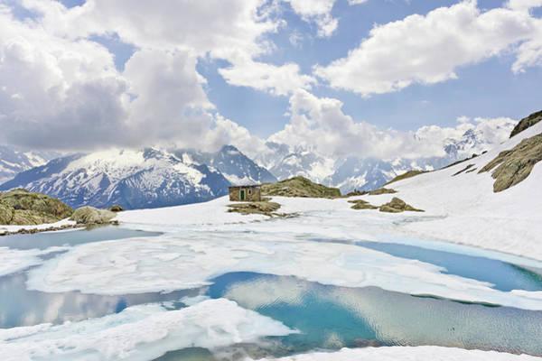 Mont Blanc Wall Art - Photograph - Lac Blanc And Mont Blanc Massif by David Madison