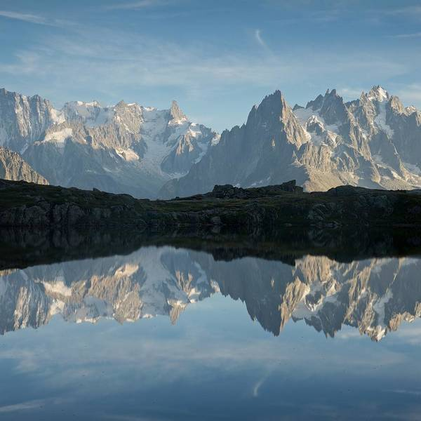 Photograph - Lac De Cheserys Reflection by Stephen Taylor