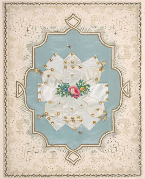 Doily Painting - Lace Paper Valentine  Attributed To Esther Howland  American  Worcester 1828 1904 Quincy Massachuse  by Celestial Images