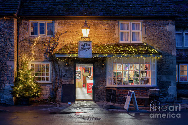Wall Art - Photograph - Lacock Bakery At Christmas by Tim Gainey