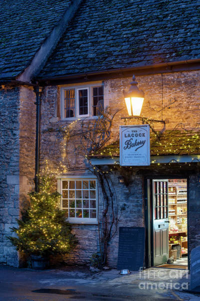 Photograph - Lacock Bakery At Christmas Time by Tim Gainey