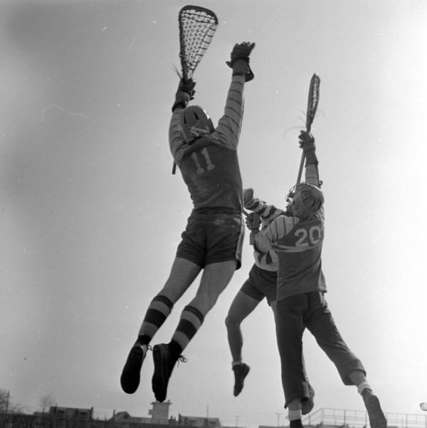 Reach Wall Art - Photograph - Lacrosse Players by Orlando