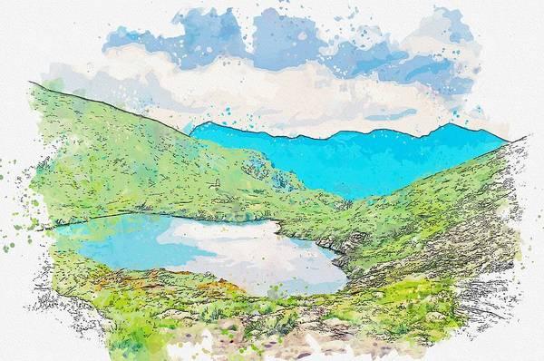 Painting - Lacul Capra - Salvamont Cota -  Watercolor By Ahmet Asar by Ahmet Asar