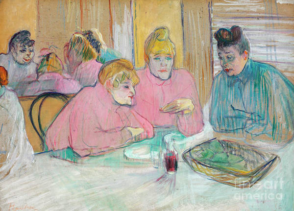 Wall Art - Painting - Ladies In The Refectory by Henri de Toulouse-Lautrec