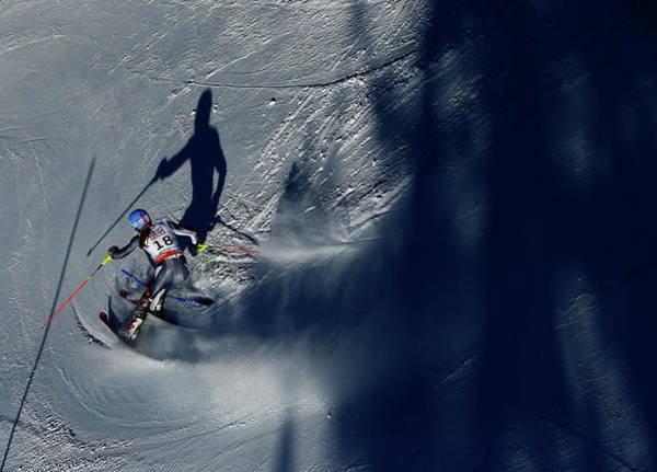Alpine Skiing Photograph - Ladies Slalom by Al Bello
