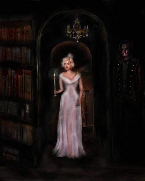 Mansion Mixed Media - Lady At Night by Benjamin Lucas