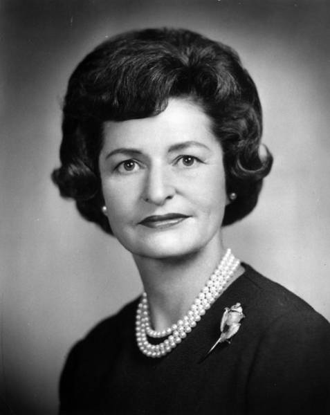 Sweater Photograph - Lady Bird Johnson by Hulton Archive
