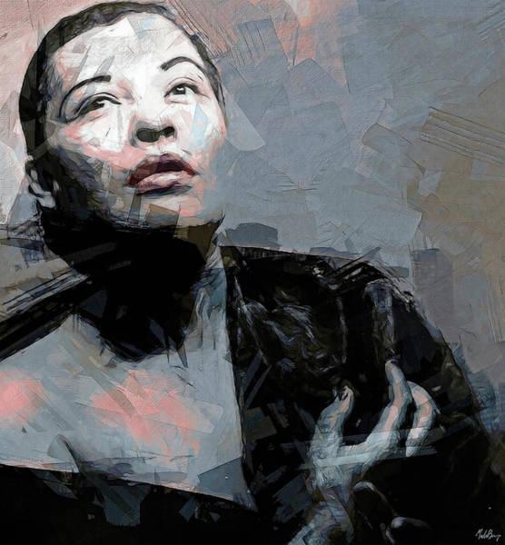 Wall Art - Mixed Media - Lady Day by Mal Bray