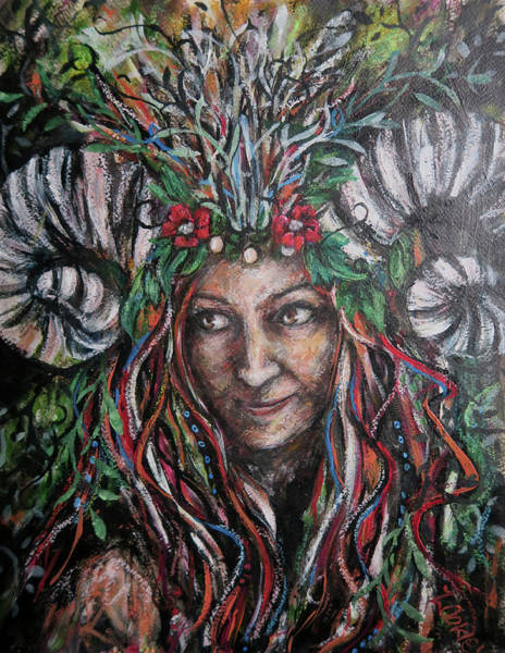 Primal Painting - Lady Dyad  by Zoe Oakley