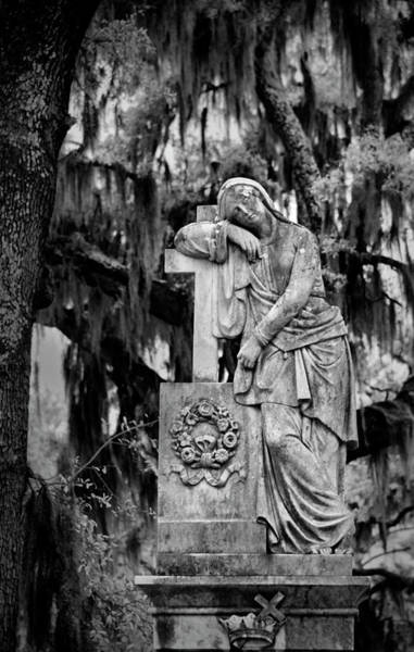 Photograph - Lady In Bonaventure Cemetary II by Jon Glaser