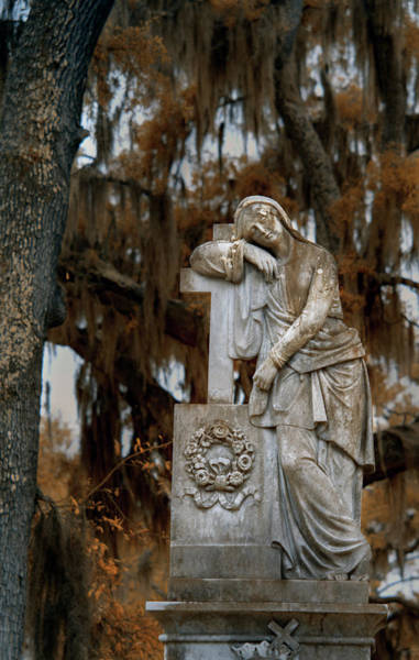 Wall Art - Photograph - Lady In Bonaventure Cemetary by Jon Glaser