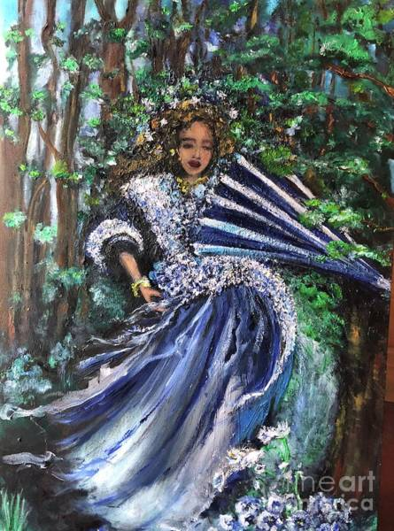 Painting - Lady In Forest by Laurie Lundquist
