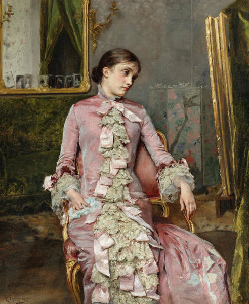 Wall Art - Painting - Lady In Pink, 19th Century by Rogelio de Egusquiza
