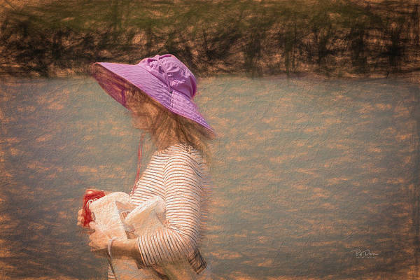 Digital Art - Lady In Pink Hat by Bill Posner
