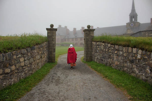 Cabot Trail Photograph - Lady In Red - Fortress Louisburg by Spencer Bush
