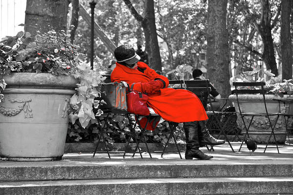 Photograph - Lady In Red by Giorgio Tuscani