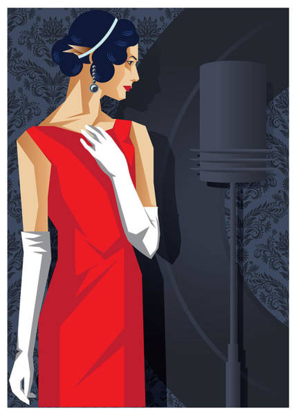 Amateur Digital Art - Lady In Red by Tom Cage