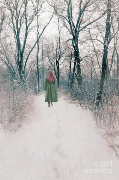 Wall Art - Photograph - Lady In The Snowy Woods by Jill Battaglia