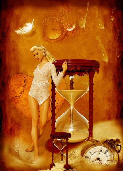 Heartbroken Digital Art - Lady In Waiting No 01 by iMia dEsigN