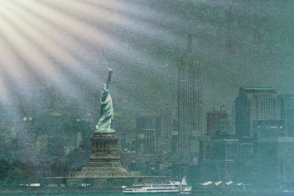Wall Art - Photograph - Lady Liberty - A Ray Of Light And Hope by Geraldine Scull