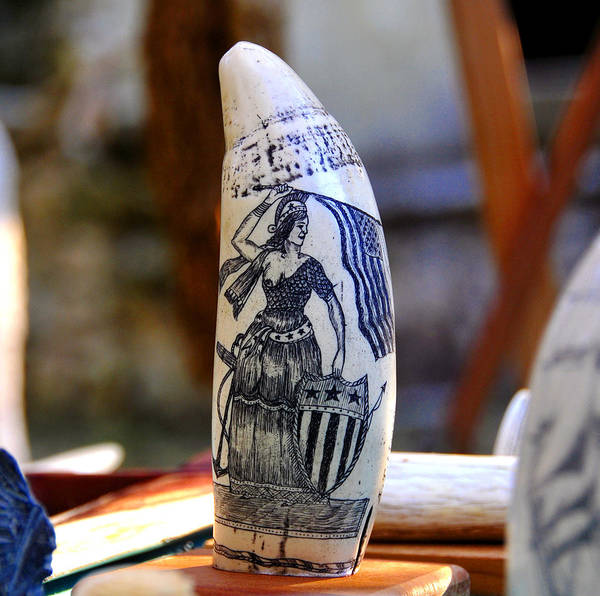 Wall Art - Photograph - Lady Liberty Scrimshaw 1700s by David Lee Thompson
