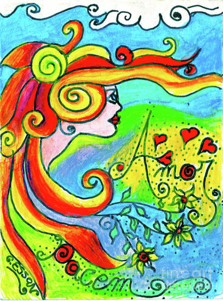 Wall Art - Painting - Lady Of Love And Peace by Genevieve Esson