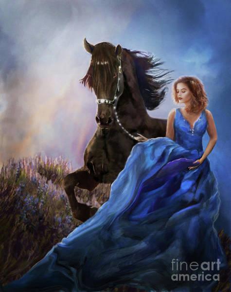 Digital Art - Lady Sarah's Fantasy by Melinda Hughes-Berland