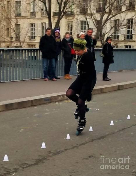 Wall Art - Photograph - Lady Skater In Paris Vision # 2 by Marcus Dagan