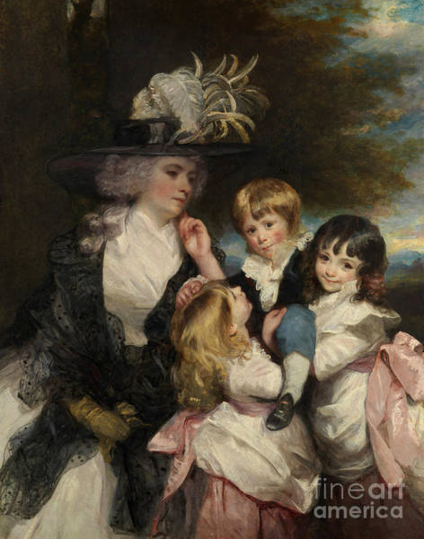 Wall Art - Painting - Lady Smith  Charlotte Delaval And Her Children George Henry, Louisa, And Charlotte, 1787 by Joshua Reynolds