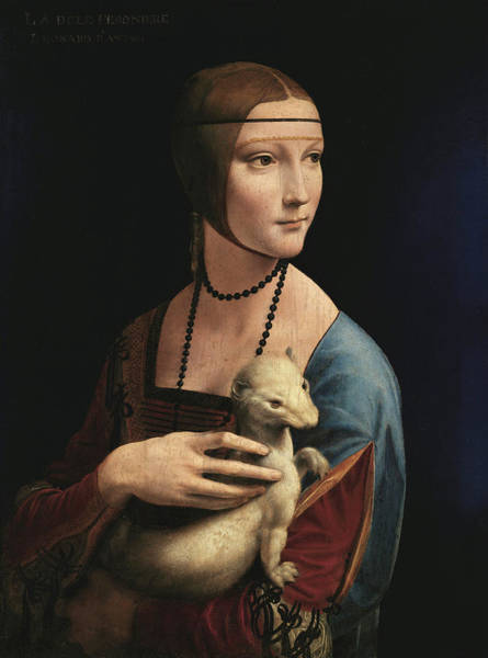 Wall Art - Painting - Lady With An Ermine, 1489 by Leonardo da Vinci