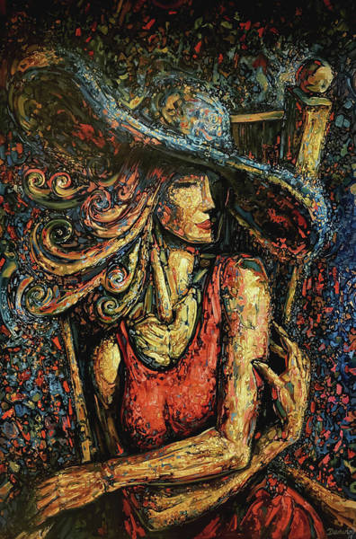 Wall Art - Painting - Lady With Hat by Darwin Leon