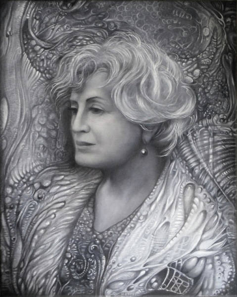 Drawing - Lady Z - Charcoal Underdrawing by Otto Rapp