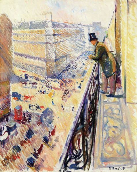 Wall Art - Painting - Lafayette Street - Digital Remastered Edition by Edvard Munch