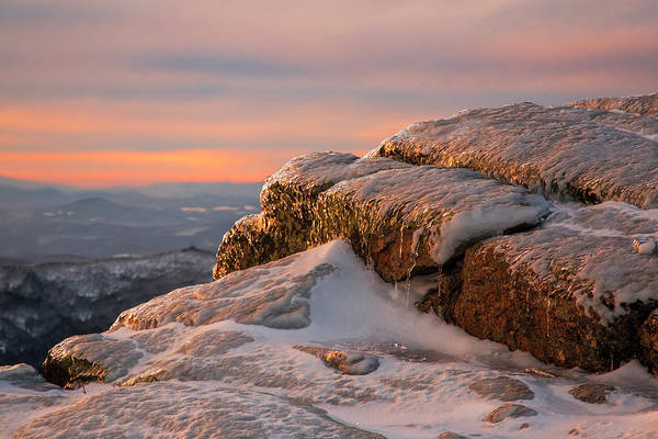 Alpen Glow Wall Art - Photograph - Lafayette Winter Sunset Rocks by Chris Whiton