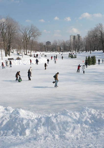 Quebec City Photograph - Lafontaine Park Ice Rink by Buzbuzzer