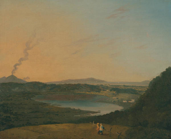 Painting - Lago D'agnano With Vesuvius In The Distance by Richard Wilson