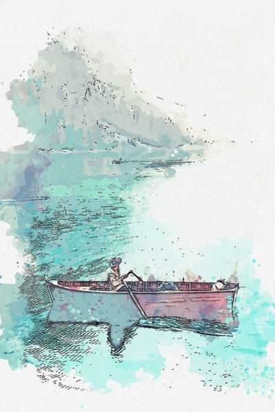 Painting - Lago Di Braies, Braies, Italy -  Watercolor By Adam Asar by Adam Asar