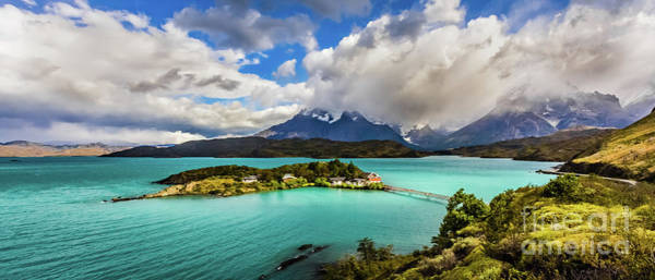 Photograph - Lago Pehoe, Chile by Lyl Dil Creations
