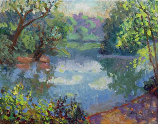 Painting - Lagoon Morning by Lisa Blackshear