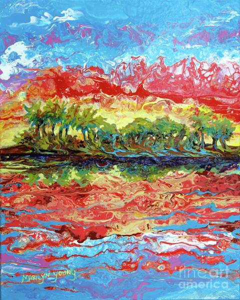 Painting - Lagoon Sunset by Marilyn Young