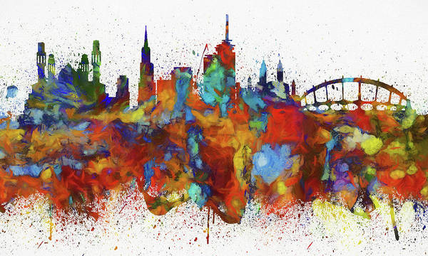 Nigeria Painting - Lagos Colorful Skyline by Dan Sproul