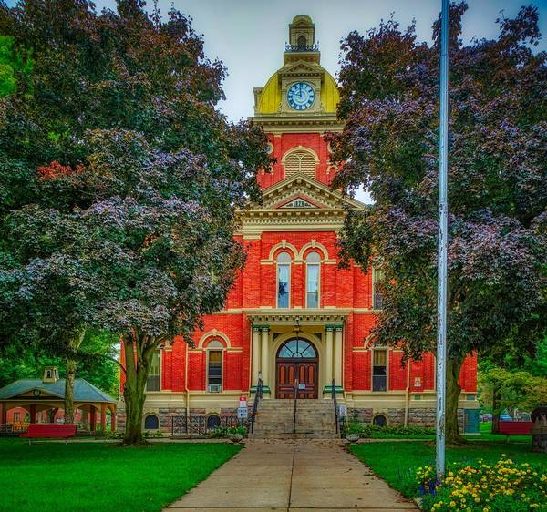 Courthouse Towers Wall Art - Photograph - Lagrange County Courthouse - Indiana by Mountain Dreams